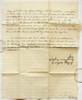 Letter from Mr. Baggs to Edward containing instructions for curing a dozen hams, curing beef, and corning beef, dated December 26, 1842, verso.