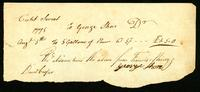 [Receipt for 5 gallons of rum from George Shore]