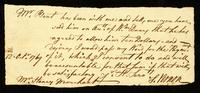 [Letter from Samuel Vernon to Mr. Henry Marchant]