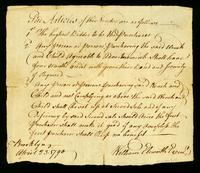 [Memorandum regarding the sale of a slave and her child to Mrs. Elsworth]