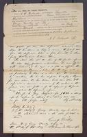 Petition by George Wooley against A. O. Roberts