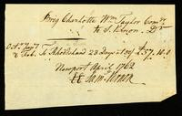 [Receipt for wages paid to Wm. Taylor]