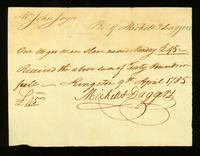 [Bill of sale for a slave named Monday]