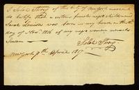 [Birth certificate of a certain female Negro child named Sarah Louisa]