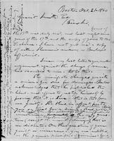 [Manuscript copy of a letter from Lysander Spooner to Gerrit Smith]
