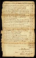 Appraisment Bill of the Estate of Colonel John Bowman