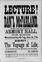 [Advertisement for lecture by Daniel McFarland]