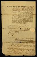 [Deed of manumission by Frederick De Peyster]