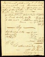 H. J. Jones Invoice of Sundries Shipped on board Sch. Charlotte, Wm. Sangster, Master. 1799.