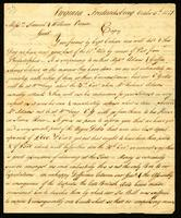[Manuscript copy of letter from Thornton & Yates to Messrs. Samuel & William Vernon]