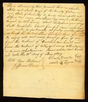 [Deed of Emancipation of the slave Anthony Bryant by Charles Miles]