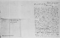 [Manuscript draft of a letter from Lysander Spooner to Gerrit Smith]