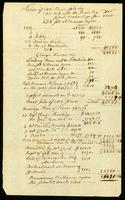[Unsigned, undated account record of trade]