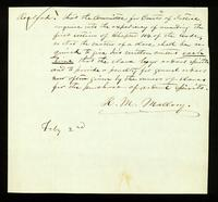 [Memorandum of the Committee for Courts of Justice regarding permission for slaves to purchase ardent spirits for their masters]