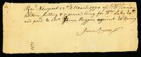 [Receipt for money received by James Rogers, Junr. From S. & W. Vernon]