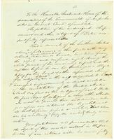 S. E. Sewall's Draft of a Petition