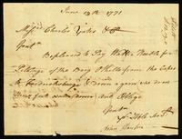 [Receipt for pilotage fees for the Brig Othello]