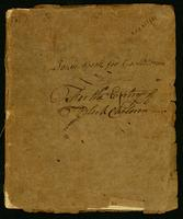 Town Book for Castletown For the Entry of Black Children, 1799-1827, upper cover