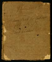 Town Book for Castletown For the Entry of Black Children, 1799-1827, lower cover