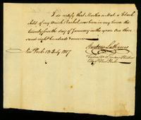 [Birth certificate of Martha or Mat, a black child]