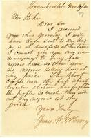 [Letter from James W. McCrary to Mr. Stokes]