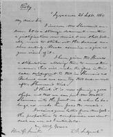 [Manuscript copy of letter from C.B. Sedgwick to Gerrit Smith]