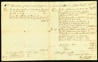 The estate of Capt. Daniel Gardner in acct. with owner of the Ship Pacific