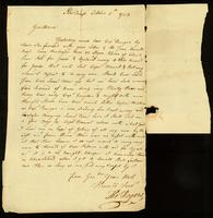 [Letter from Thos. Rogers]