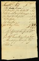 [Bill from Jonathan Niel for wages from the Brig Othello]