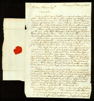 [Letter from David Nagle to William Vernon, Esq.]