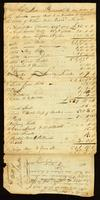 Appraissment bill of William Baker