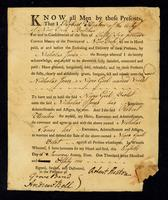 [Bill of sale for a slave named Violet]