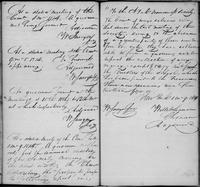 Volume 1, Minutes of the Committee of Ways and Means, page 49-50, August, September 5, October, November, and December 1814 (all adjourned without quorum), and January 9, 1815