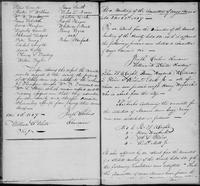Volume 1, Minutes of the Committee of Ways and Means, page 109-110, January 8, 1827 (continued) including a report of members in arrears, and minutes of February 22, 1827