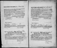 Volume 2, Register of Manumissions of Slaves in New York City, June 18, 1816-May 28, 1818, page 22 and 27