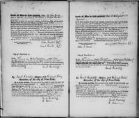 Register of manumissions of slaves in N.Y.C June 18, 1816-May 28, 1818.