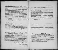 Volume 2, Register of Manumissions of Slaves in New York City, June 18, 1816-May 28, 1818, page 120 and page [121], blank form