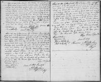Volume 3, Indentures, 1809-1829. Register of manumissions and indentures, page 12-13