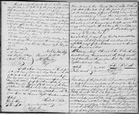 Volume 3, Indentures, 1809-1829. Register of manumissions and indentures, page 14-15