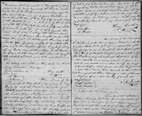 Volume 3, Indentures, 1809-1829. Register of manumissions and indentures, page 22-23