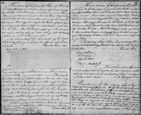 Volume 3, Indentures, 1809-1829. Register of manumissions and indentures, page 64-65, with verso of inserted slip