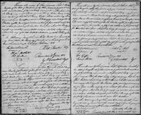 Volume 3, Indentures, 1809-1829. Register of manumissions and indentures, page 68-69