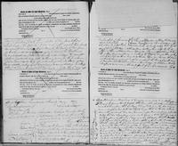 Volume 3, Indentures, 1809-1829. Register of manumissions and indentures, page [124]-[125], with inserted leaf lifted