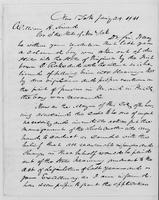Volume 11, Minutes of the Standing Committee, page [273]-[274], Horace Dresser letter, New York, to William H. Seward, January 29, 1841, page [1]