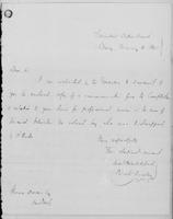 Volume 11, Minutes of the Standing Committee, page [275]-[276], Samuel Blatchford letter, Albany, to Horace Dresser, New York, February 4, 1841
