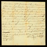 [Deed of Emancipation of Mary by Josiah Bell]