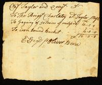 [Receipt for metalwork done by Oliver Beere for the Brig Royal Charlotte]