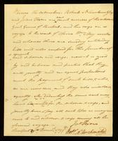 [Memorandum regarding the Schooner General Greene's voyage to the coast of Africa]