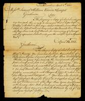 [Letter from Gabriel Manigault to Messrs. Samuel & William Vernon & Compa.]