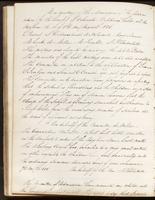 Vol. 1, minutes of the August 10, 1838 board meeting.